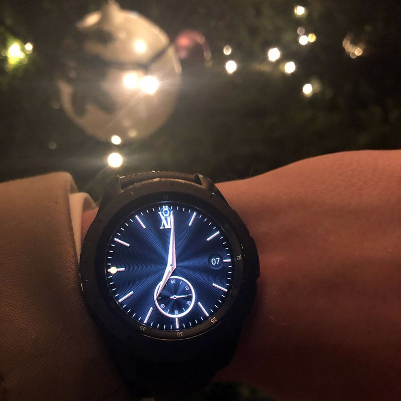 Samsung Galaxy Watch in Pulitzer Hotel