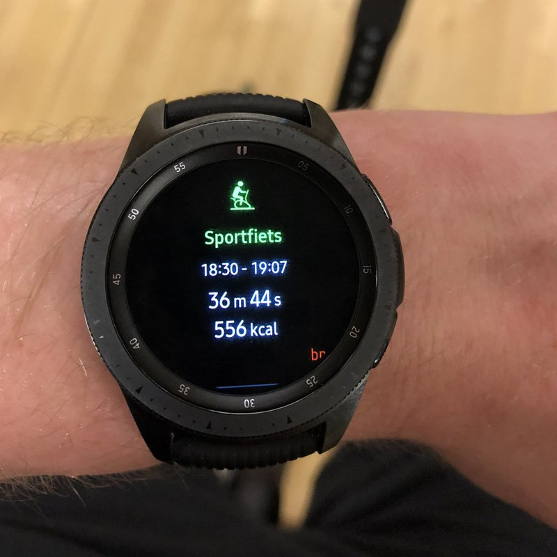 Sporten met de Samsung Galaxy Watch